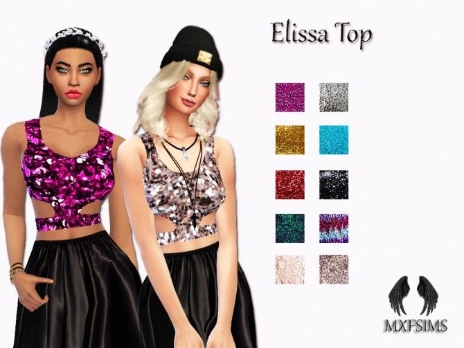 Elissa Top at MXFSims image 3381 670x503 Sims 4 Updates