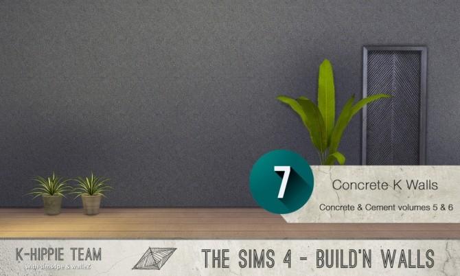 7x2 Concrete & Cement Walls Beton Permanent Vol 5 & 6 at K hippie image 3383 670x402 Sims 4 Updates