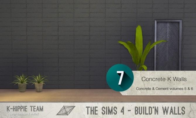 7x2 Concrete & Cement Walls Beton Permanent Vol 5 & 6 at K hippie image 3393 670x402 Sims 4 Updates