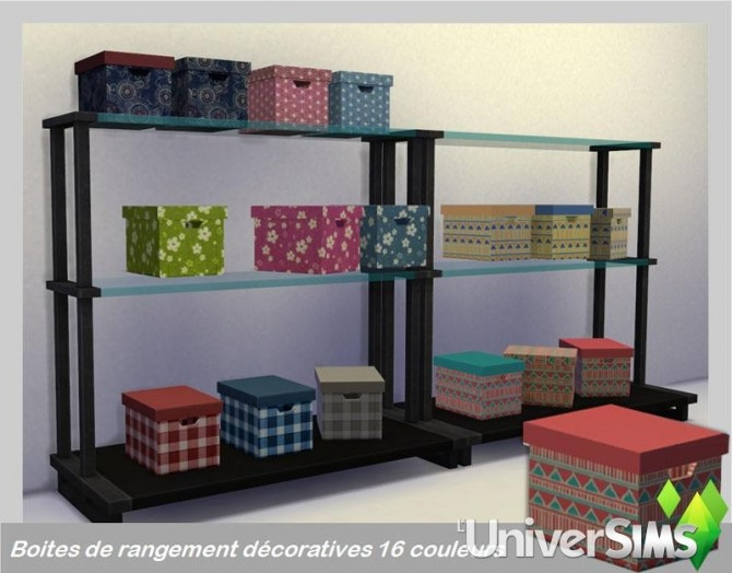 Decorative storage boxes at L'UniverSims image 340 670x524 Sims 4 Updates