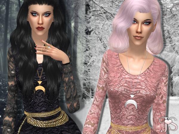 Sims 4 N.O Lace Dress by JavaSims at TSR