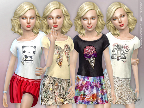 Sims 4 Designer Outfits Collection P04 by lillka at TSR