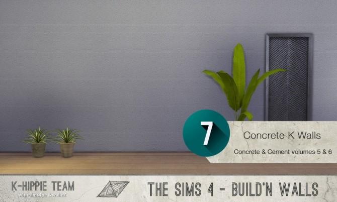 7x2 Concrete & Cement Walls Beton Permanent Vol 5 & 6 at K hippie image 3419 670x402 Sims 4 Updates