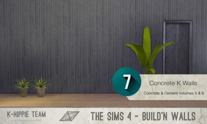 7x2 Concrete & Cement Walls Beton Permanent Vol 5 & 6 at K hippie image 3424 670x402 Sims 4 Updates