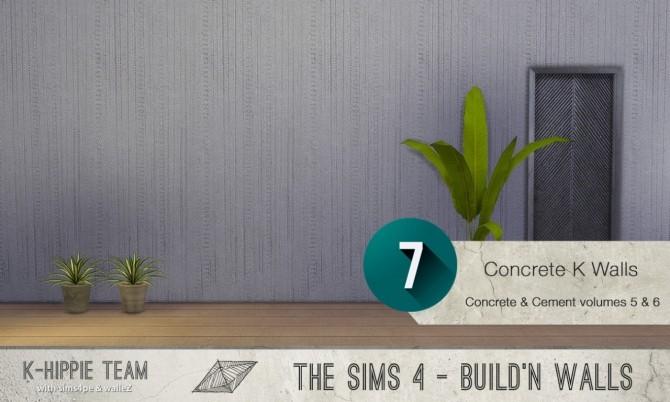 7x2 Concrete & Cement Walls Beton Permanent Vol 5 & 6 at K hippie image 3434 670x402 Sims 4 Updates