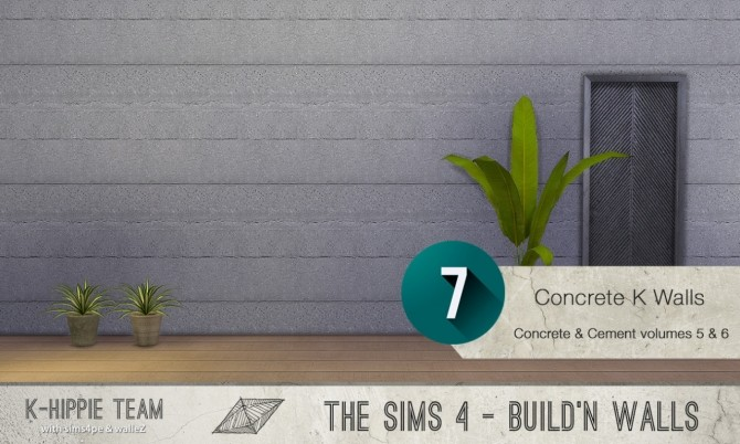 7x2 Concrete & Cement Walls Beton Permanent Vol 5 & 6 at K hippie image 3444 670x402 Sims 4 Updates