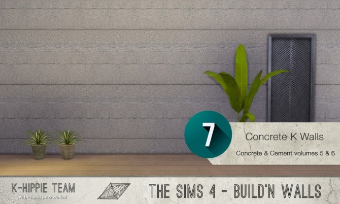 7x2 Concrete & Cement Walls Beton Permanent Vol 5 & 6 at K hippie image 3454 670x402 Sims 4 Updates