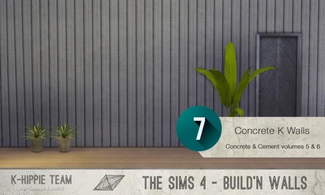 7x2 Concrete & Cement Walls Beton Permanent Vol 5 & 6 at K hippie image 3463 670x402 Sims 4 Updates