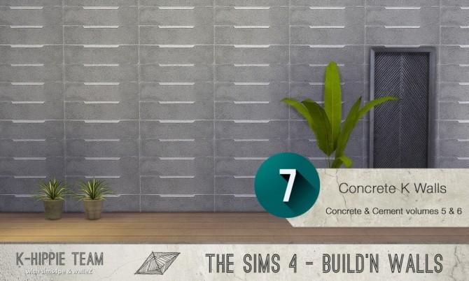 7x2 Concrete & Cement Walls Beton Permanent Vol 5 & 6 at K hippie image 3473 670x402 Sims 4 Updates