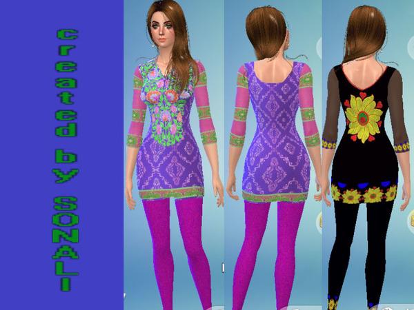 Sims 4 Indian Wear Salwar Suits by sonalialbastaki at TSR