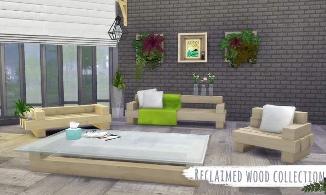 Sims 4 Reclaimed Wood Collection Redux Version at THINGSBYDEAN