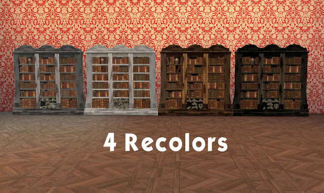 Sims 4 Sims Medieval Wizards Bookcase at Historical Sims Life