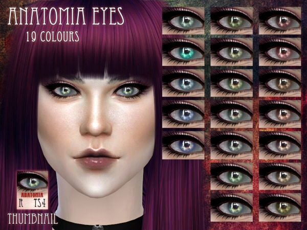 Sims 4 Anatomia Eyes by RemusSirion at TSR