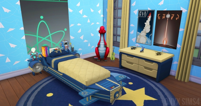 The Airplane Bedroom By Kiara Rawks At Onyx Sims 187 Sims 4