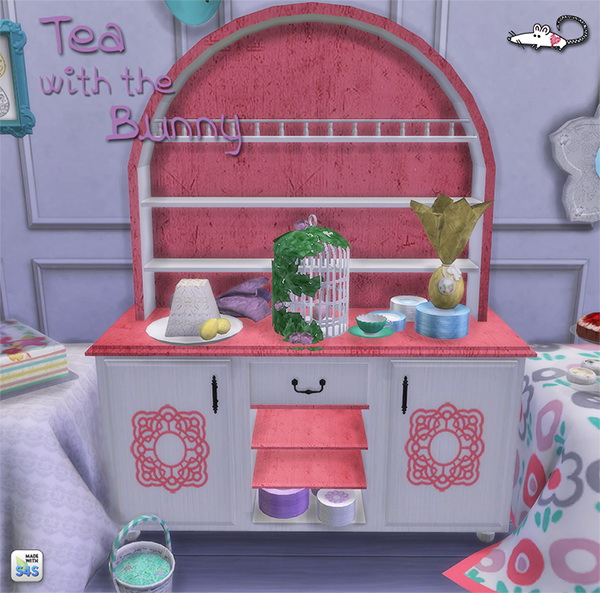 Sims 4 Tea With The Bunny set at Loverat Sims4