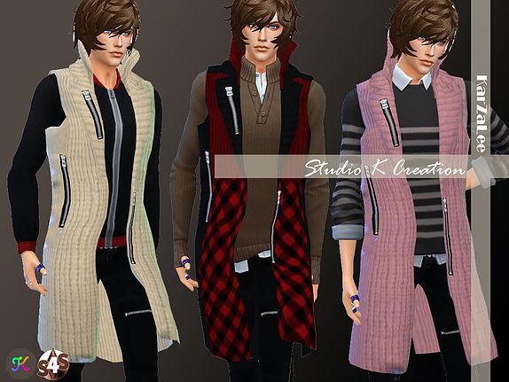Long Cardigan for men at Studio K Creation image 3733 Sims 4 Updates