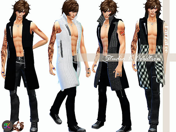 Long Cardigan for men at Studio K Creation image 3743 Sims 4 Updates