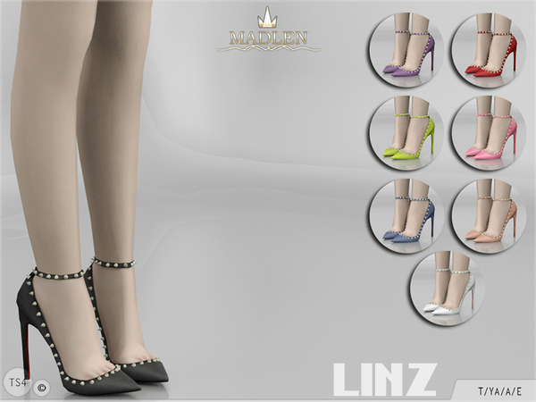 Sims 4 Madlen Linz Shoes by MJ95 at TSR