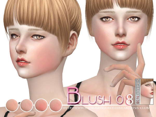 Sims 4 Blush 08 by S Club WM at TSR