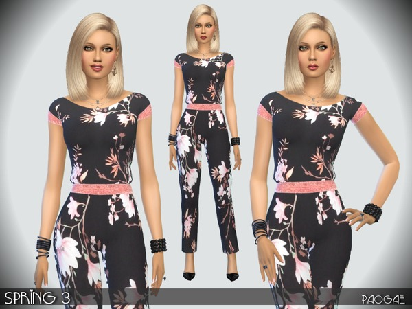 Sims 4 Spring 3 dress by Paogae at TSR