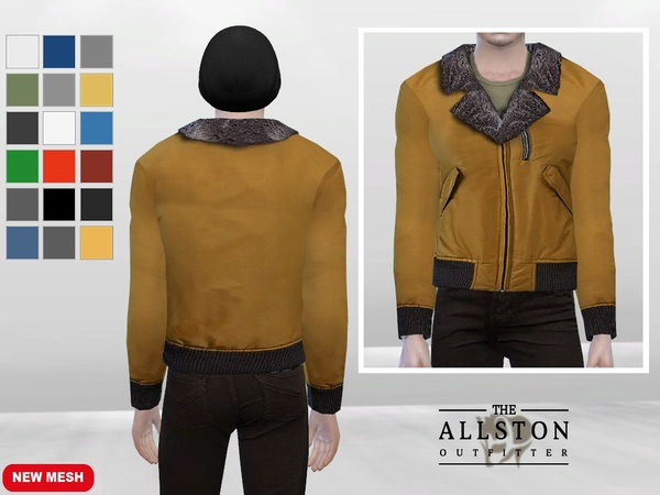 Sims 4 Levin Fur Collar Jacket by McLayneSims at TSR
