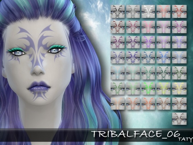 Sims 4 Taty Tribal Face 06 by Taty86 at SimsWorkshop