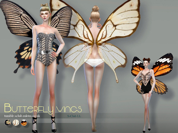 Sims 4 Butterfly wings 02 by S Club LL at TSR