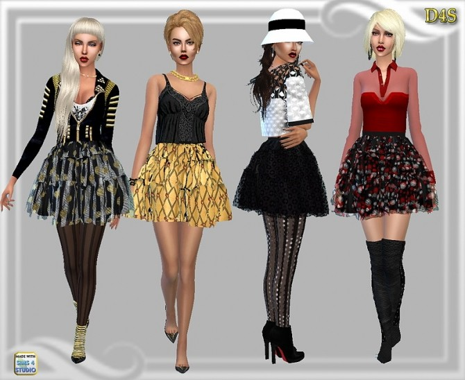 Sims 4 Ballet Tier skirt at Dreaming 4 Sims