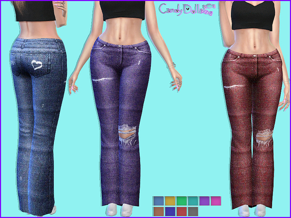 CandyDoll Dolly Jeans by DivaDelic06 at TSR image 4215 Sims 4 Updates
