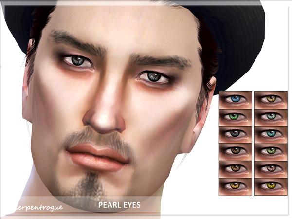 Sims 4 Pearl Eyes by Serpentrogue at TSR