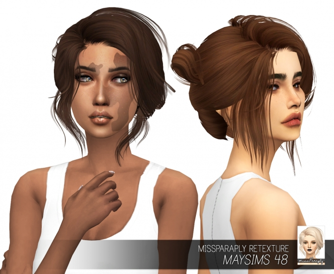 messy hair styles for men sims 4 cc hair bun maysims 48 solids at miss paraply 4361 | 4361
