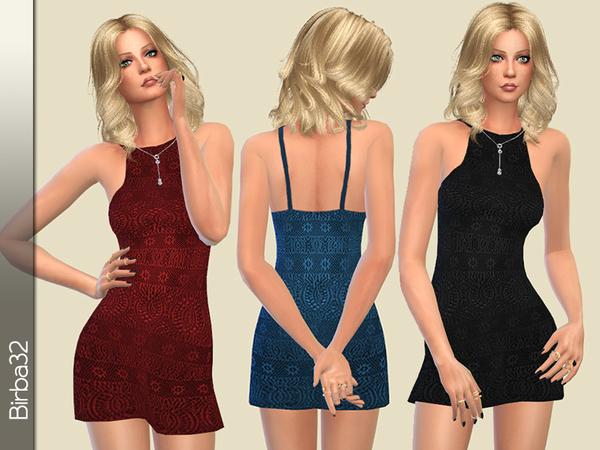 Sims 4 Mini dress in lace by Birba32 at TSR