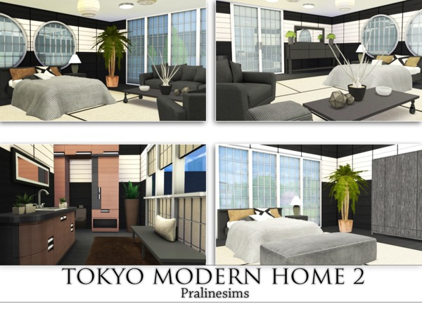 Sims 4 Tokyo Modern Home 2 by Pralinesims at TSR
