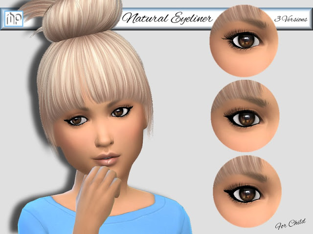 Sims 4 MP Natural Eyeliner for Child at BTB Sims – MartyP