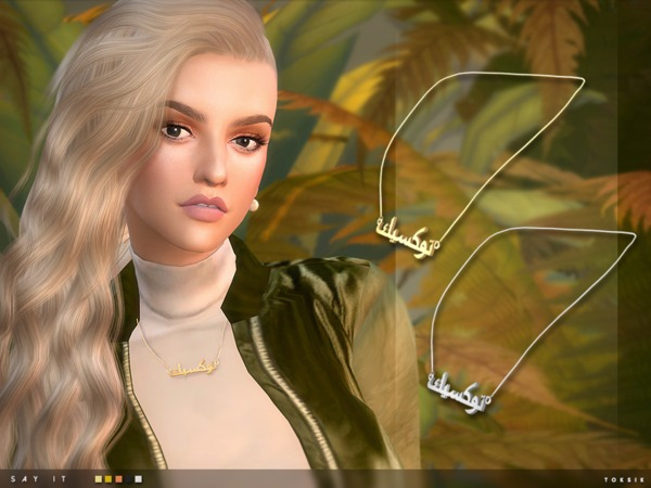 Sims 4 Say It Necklace by toksik at TSR