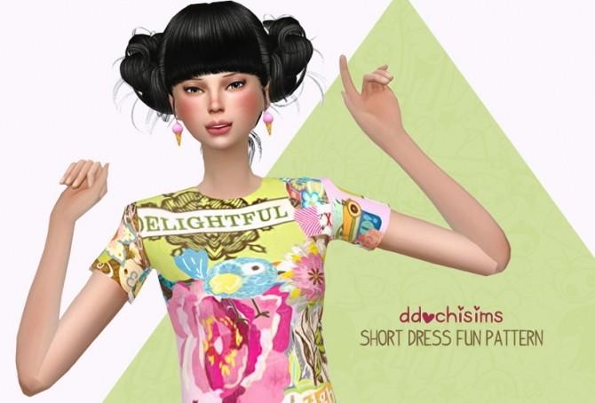 Short Dress Fun Pattern at Miwamoe image 477 670x454 Sims 4 Updates