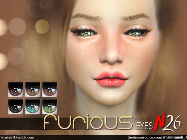Sims 4 Furious Eyes by tsminh 3 at TSR