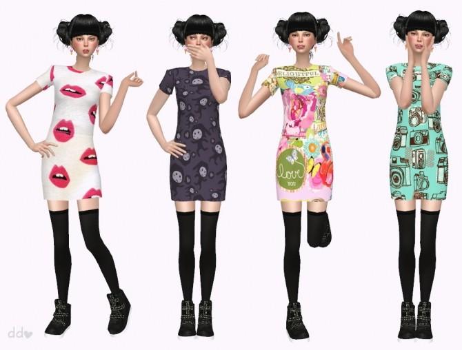 Short Dress Fun Pattern at Miwamoe image 486 670x508 Sims 4 Updates
