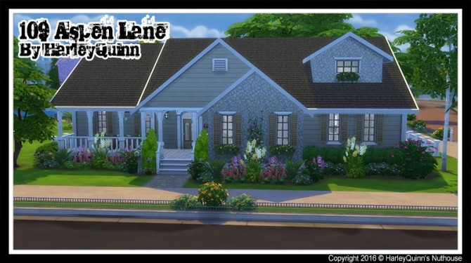 Sims 4 Aspen Lane at Harley Quinn's Nuthouse