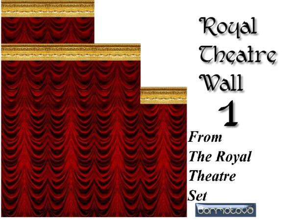 Sims 4 Royal Theatre Walls Set by abormotova at TSR