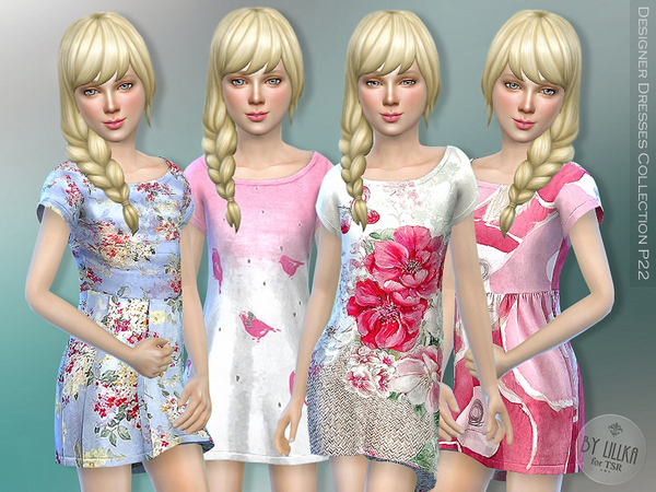 Designer Dresses Collection P22 by lillka at TSR image 5 Sims 4 Updates