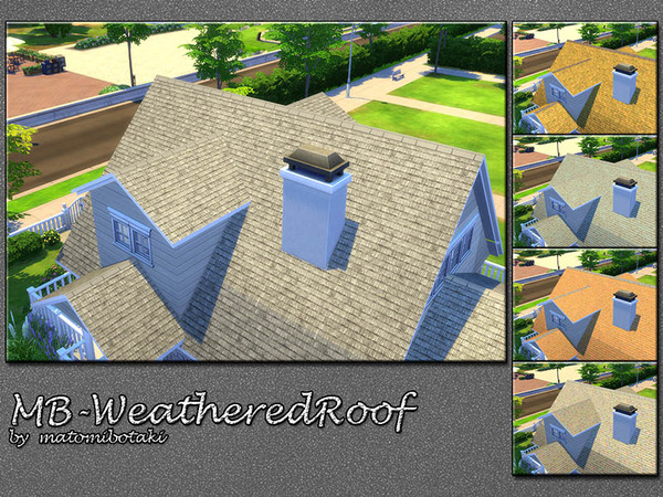 Sims 4 MB Weathered Roof by matomibotaki at TSR