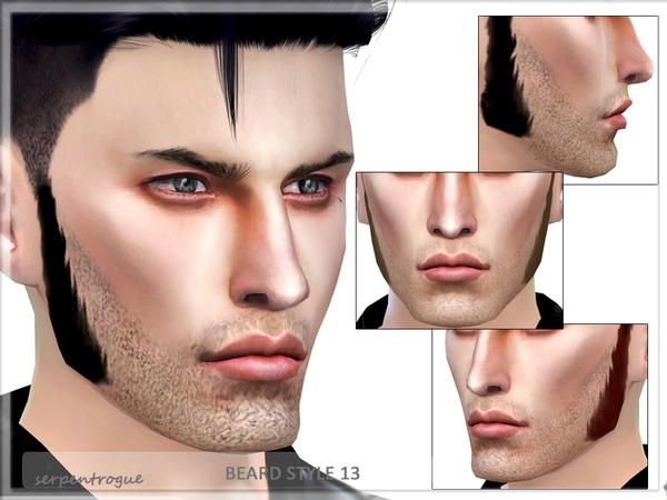 Sims 4 Beard Style 13 by Serpentrogue at TSR