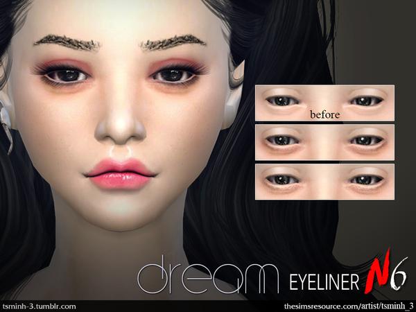 Sims 4 Dream Eyeliner by tsminh 3 at TSR