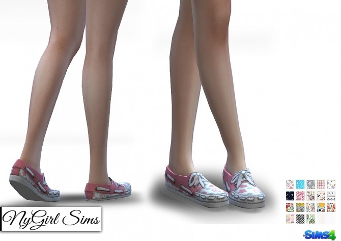 Sims 4 Patterned Boat Shoes at NyGirl Sims