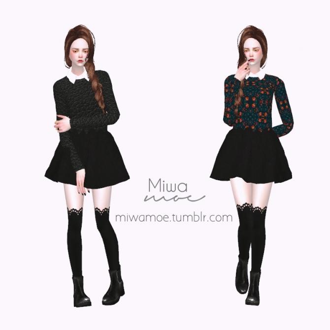 Collar Sweater At Miwamoe 187 Sims 4 Updates