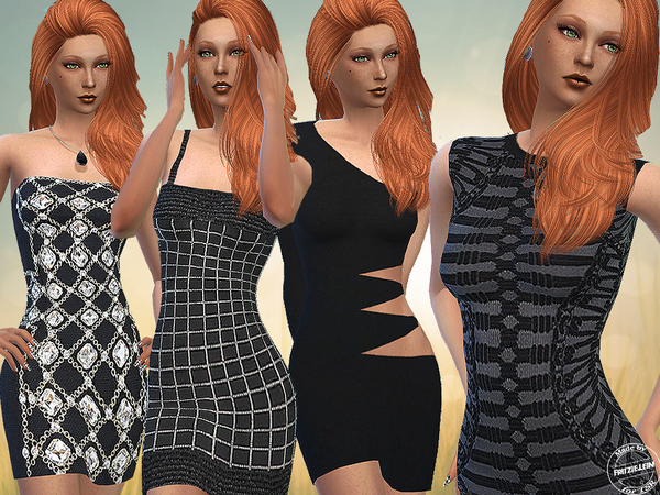 Sims 4 Mini Dresses by Fritzie.Lein at TSR