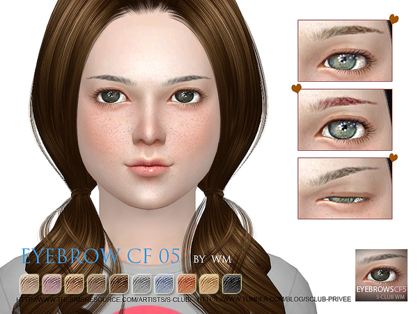 Sims 4 Eyebrows 05 CF by S Club WM at TSR