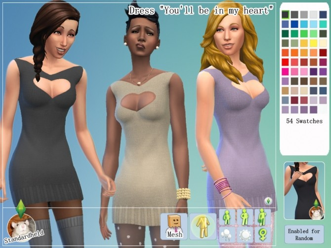Youll be in my heart dress by Standardheld at SimsWorkshop image 569 670x503 Sims 4 Updates