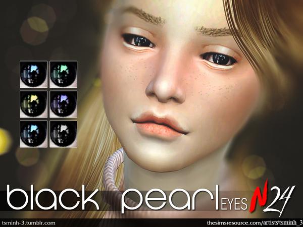 Sims 4 Black Pearl Eyes by tsminh 3 at TSR